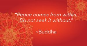 Buddha quote - Peace comes from within. Do not seek it without