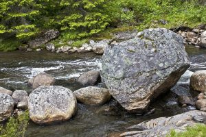 Large rocks in a stream