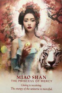 Taro card of Miao Shan, the princess of mercy