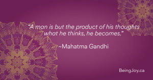 """quote over violet mandala - """"A man is but the product of his thoughts what he thinks, he becomes."""" ~Mahatma Gandhi"""